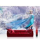 Fototapete 368x254 cm PREMIUM Wand Foto Tapete Wand Bild Papiertapete - Disney Tapete Die Eiskönigin Frozen Eiskönigin Elsa Anna Kindertapete blau - no. 2766