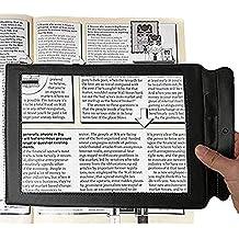 Lupa de hoja grande con 3 aumentos, tamaño de página portátil para lectura  de libros 43a44133a6
