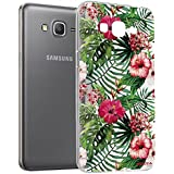Mocca Design CSA057 Coque crystal pour Samsung Galaxy Grand Prime Motif Hibiscus