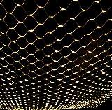 LTNT Lichternetz,Led Licht ,fee nets lampe,204lampe bead,[outdoor wasserdicht],Weihnachten day dekoration-Warmweiß 2m*3m(79x118inch)