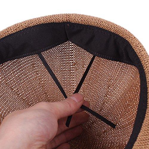 Été Casquettes Octogonales Hommes Femmes Béret Chapeau Creux Avant Chapeau De Plein Air Voyage Kaki