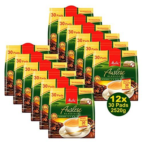 Melitta Auslese klassisch 12x 30 Kaffeepads á 210g (2520g) Vorratspackung
