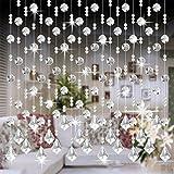 Moginp Vorhang,Vorhänge Kristall Glas Perlen Curtain Gardinen Luxus Wohnzimmer Schlafzimmer Fenster Tür Hochzeit Dekor (E)