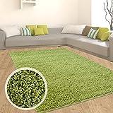 Shaggy Hochflor Teppich Flokati Langflor Weich in 9 Farben Einfarbig Moderner Wohnzimmerteppich, Größe in cm:300 x 400 cm;Farbe:Grün