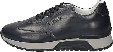 Nero Giardini E001481U Hold Delavè Blu Sneakers Uomo in Pelle Blu