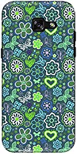 The Racoon Lean printed designer hard back mobile phone case cover for Samsung Galaxy A7 (2017). (Green Colo)