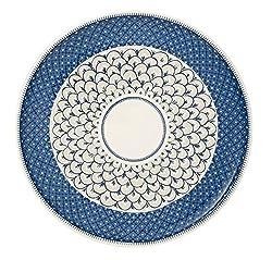 Villeroy & Boch Casale Blu Pizzateller, 32 cm, Premium Porzellan, Weiß/Blau