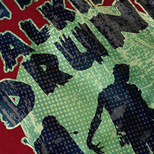 Gehen Betrunken Party Hirsch Zombie Nacht Damen Schwarz S-2XL Muskelshirt | Wellcoda Rot
