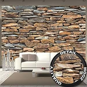Great Art Fototapete Schiefer Stonewall Wandbild Dekoration 3d Steintapete  Stein Muster Tapete Steinoptik Wand Schiefergestein