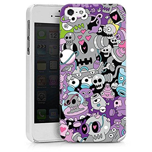 Apple iPhone X Silikon Hülle Case Schutzhülle Bunt Monster Grafik Hard Case weiß