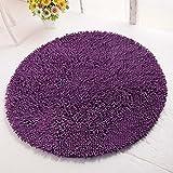 Everyday Teppiche Ultra-dünne Faser rund Soft Modern Wohnzimmer Teppich Fluffy Schlafzimmer Bereich Teppiche Anti-Rutsch-Solid Color, 80cmX200cm ( Farbe : 14 , größe : 160cmX160cm )