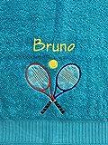 Tennis Handtuch bestickt mit Motiv und Name