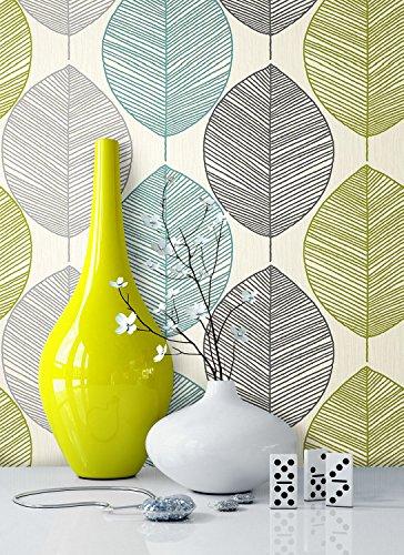 *Tapete Natur Modern Blumen Floral | schöne edle Tapete im natürlichen Design | moderne 3D Optik für Wohnzimmer, Schlafzimmer oder Küche inkl. Newroom-Tapezier-Profibroschüre mit super Tipps!*
