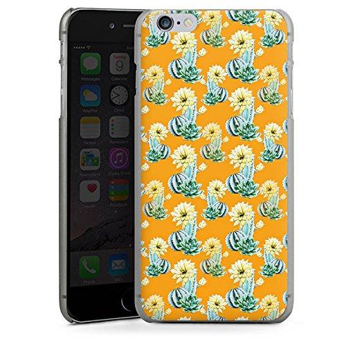 Apple iPhone X Silikon Hülle Case Schutzhülle Kaktus Muster Blume Hard Case anthrazit-klar