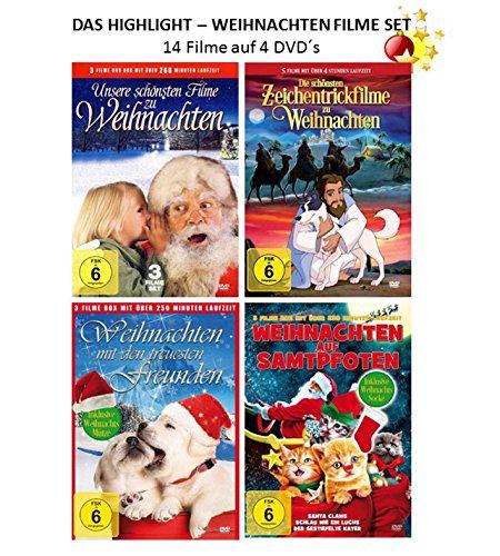 Das Highlight Weihnachten Set ( 4 DVDs mit 14 wundervollen Weihnachtsfilme )