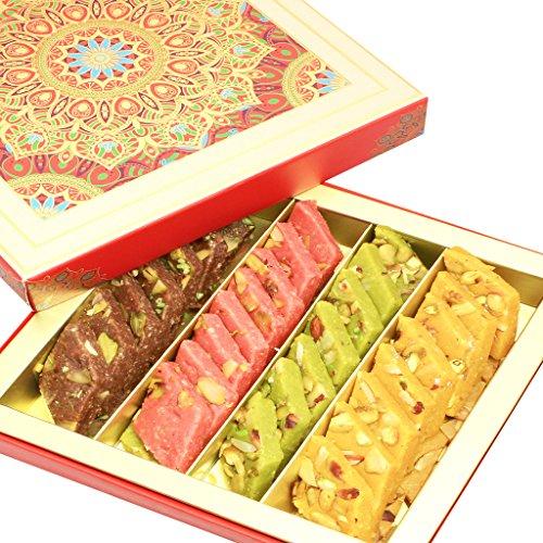 Ghasitaram Gifts Diwali Gifts Sweets-Assorted Kaju Katlis, 500 gms