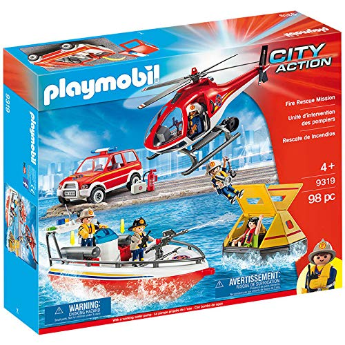 Playmobil - Set Rescate De Incendios 9319
