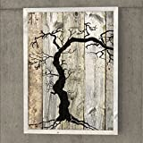 Tintenzeichnung und Öl auf der Palette Planken Farbe auf Paletten, dekorative Kunst - A361 -