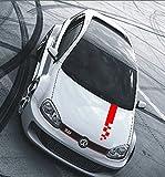 Autoaufkleber Race Rallystreifen Tuning Raceflag Tuning Styling 80 x 10 cm rot