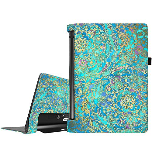 Fintie Lenovo Yoga Tablet 3 10 Hülle (Nicht für Lenovo Yoga Tab 3 Plus/Yoga 3 Pro geeignet) - Folio Premium Kunstleder Schutzhülle mit Auto Sleep/Wake für Lenovo Yoga Tablet 3 10,1