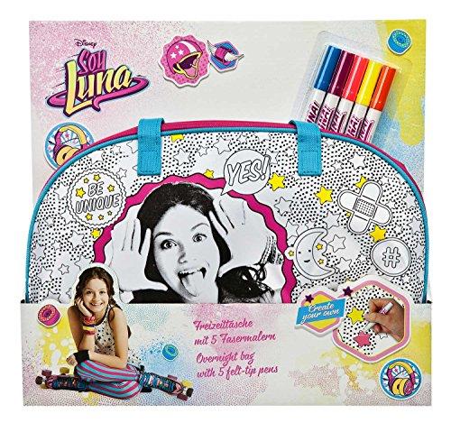 Undercover SORN2470 - Freizeittasche zum Bemalen, Disney Soy Luna inklusive 5 Fasermalern