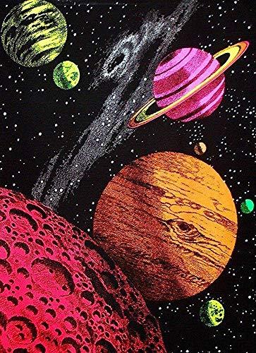 EBONI ELLIOTT Hertanercase Galaxy Blacklight Reactive Custom Poster 20 * 30 (Blacklight Galaxy)