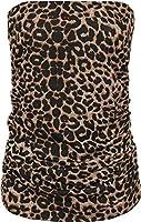 New Plus Womens Animal Print Long Boob Tube Bandeau Ladies Sleeveless Top 16