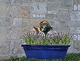 Balkon Fisch Keramik Eudore Größe: ca 12 cm hoch, ca 16 cm lang incl. 30 cm Eisenstange (ohne Balkonkasten)