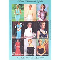 STAMPEX - Niger IMPERF. 1997 Princess Diana Royal Family 9v Mint Full Sheet Thematic Stamps Collection.