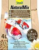 Tetra NaturalMix (Hauptfutter-Mischung für Teichfische, aus pflanzlichen Futtersticks und naturbelassenen Bachflohkrebsen), 4 Liter Beutel