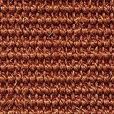 Teppichboden Auslegware | Sisal Naturfaser Schlinge | 400 cm Breite | terra rot | Meterware, verschiedene Größen | Größe: 3 x 4m