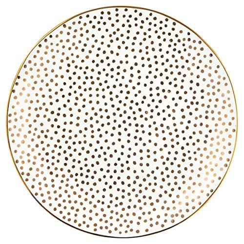 Greengate STWPLALDOT6006 Dot Assiette de Petit-déjeuner Doré 21 cm