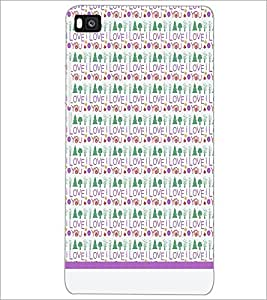 PrintDhaba I Love You Pattern D-1600 Back Case Cover for HUAWEI P8 (Multi-Coloured)