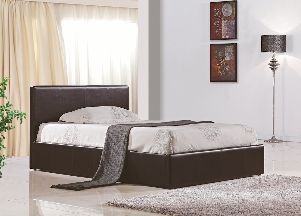 Birlea Berlin Ottoman Bed Faux Leather White Double Amazonco