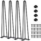 Set van 4 tafelpoten in 72 cm Catalpa bloem 3 stangen hairpin tafelpoten meubelpoten tafelpoten haarspeldpoten van staal