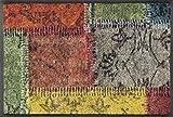 Wash&Dry 088714 Vintage Patches Fußmatte, Acryl, Bunt, 40 x 60 x 0.7 cm
