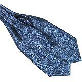 Verlike - cravatta ascot/plastron, da uomo, alla moda, in raso, da annodare, misto seta, per matrimoni