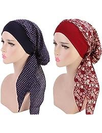 Biback Pañuelo la Cabeza Turbante Mujer Apagado Tapa para quimio, pérdida de Pelo, Sombrero de quimioterapia del Sombrero del Turbante elástico del Hairband de Las Mujeres