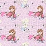 Unbekannt Cretonne Elsa & Anna 2 – rosa — Meterware ab