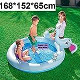 LX inflatable toys Sommer Kinder Wasserspray Burg Aufblasbaren Pool Spielzeuge, Große Familie...