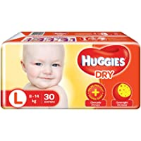 Huggies New Dry, Taped Diapers, Large Size, 30 Count