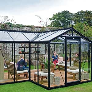 Glas-Gewächshaus Orangerie Melina 15,4 m²: Amazon.de: Garten