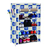 #3: Anva Amazing Shoe Rack Stand Holds APPROX 20 Pairs with 5 layers Portable Foldable
