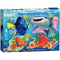 Ravensburger Disney Finding Dory 4 Shaped Jigsaw Puzzles (10,12,14,16pc)