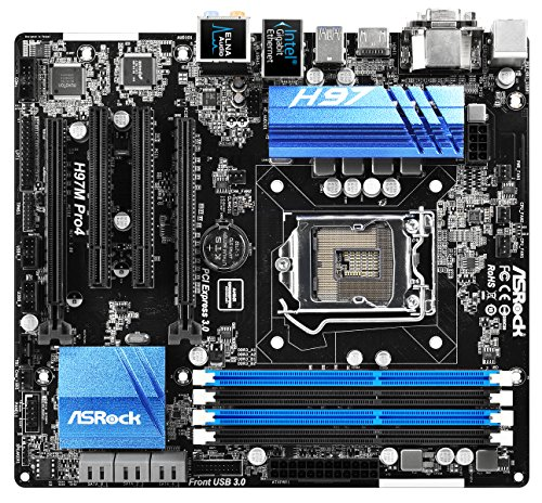 ASRock 90-MXGTA0-A0UAYZ Mainboard Sockel 1150 (micro ATX - LGA1150,DDR3 Speicher, SATA III)