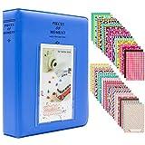 Miniálbum de fotos con 120 fundas, de Ablus, para cámara instantánea Fujifilm Instax Mini 7s 8 8+ 9 25 26 50s 70 90 y tarjeta de visita, plástico, azul cobalto, 64 pockets