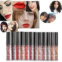 Hosaire 12 colores impermeable mate brillo de labios pintalabios maquillaje líquido Pintalabios belleza brillo de labios