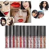 Hosaire 12 colores impermeable mate brillo de labios pintalabios...