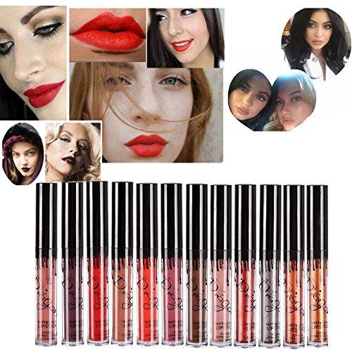 Hosaire 12 colores impermeable mate brillo labios