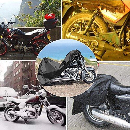 Teli-per-Moto-Telo-Coprimoto-Impermeabile-Copertura-del-Motociclo-Universale-Traspirante-190T-Copri-Scooter-Moto-Antipolveri-Anti-UV-per-Esterni-con-Lock-Hole-Sacca-per-il-Trasporto-Nero